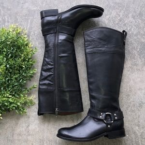NWT Frye Tall Harness Riding Boot Black
